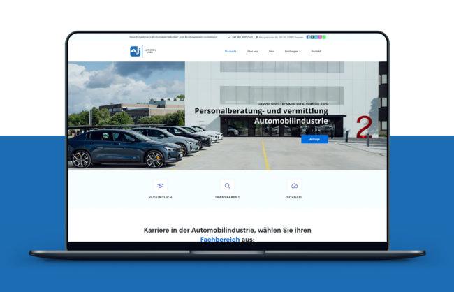 Automobiljobs Website Referenz
