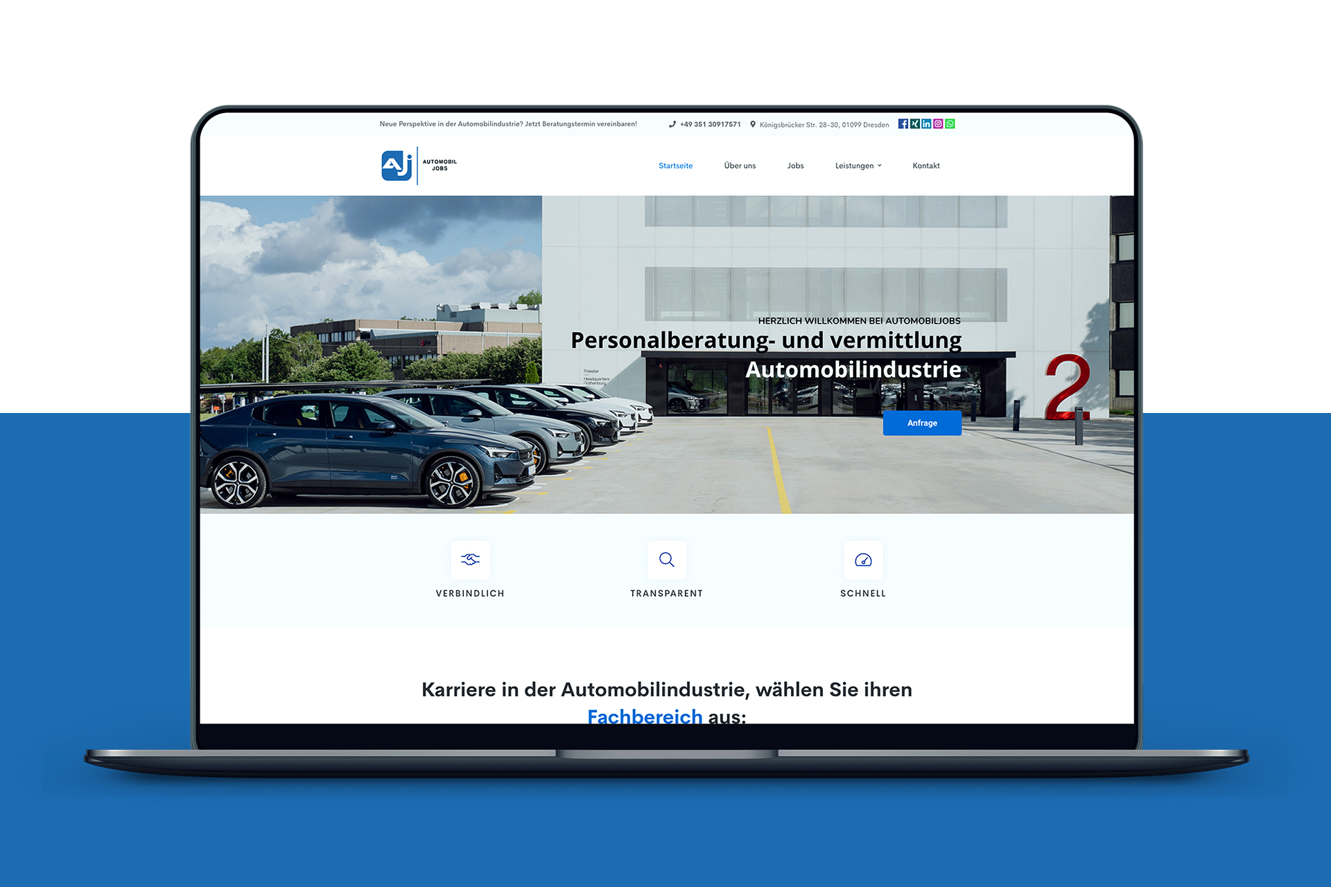 Automobiljobs Website Referenz