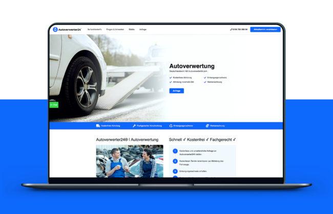 Autoverwerter24 Website Referenz