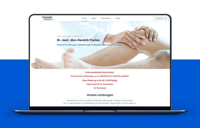 Chirugie Dresden Website Referenz