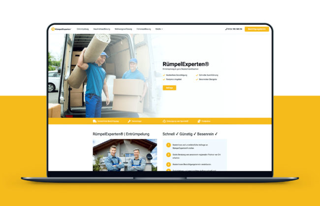 RümpelExperten Website Referenz